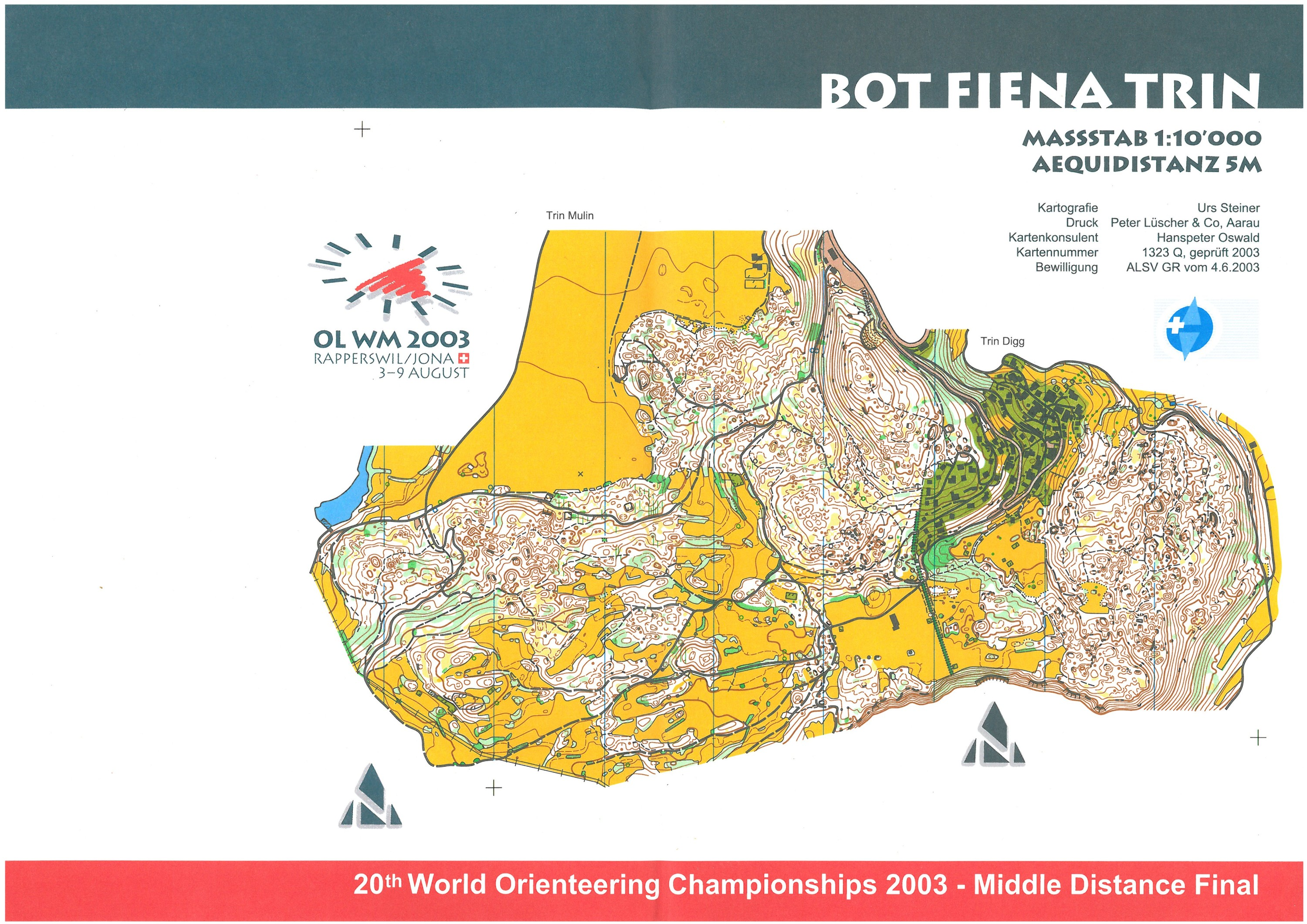 WOC 2003 - Middle Final - blank map (2003-08-07)