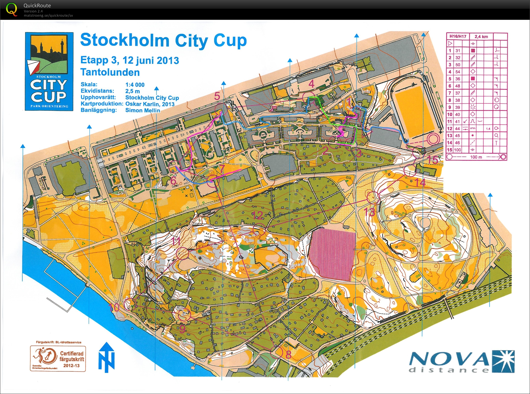 Stockholm City Cup - Tanto (2013-06-12)